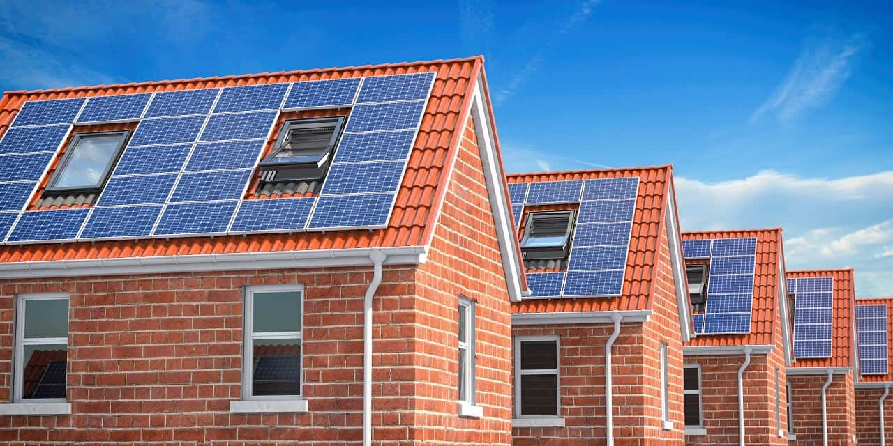 solar roof panels on houses